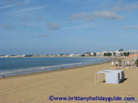 La Baule, famous seaside resort, in Brittany France